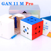 Gan 11m Pro Frosted 3x3x3 Speed Stickerless Magic Cube Puzzle Toys Frosted Black