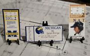 Tom Brady University Of Michigan 1st Win Ticket Lot/never Seen These 3 Together