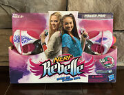 Nerf Rebelle Power Pair Set , A4807, 2 Blasters And 4 Collectible Darts - New