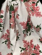 3y+ Lot Vintage Pink White Floral 100 Cotton Fabric 35w Pretty Penney's