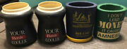 Vintage Lot 4 Coleman Tuffoams Foam Insulated Beer Soda Can Coozie Koozies Basic