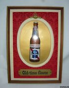 Pabst Blue Ribbon Beer Old-time Flavor Bubble Dome Bottle Sign