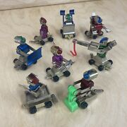 Super Rare Kenner 1971 Here Come The Microbots Lot Of All 8 Diecast Robot Toys