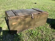 Rare Vintage Military Army Trunk Footlocker By Kleber Trunk And Bag Co