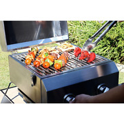 Portable Table Top Grill 2-burner Propane Gas In Stainless Steel For Perfect Bbq