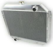 For Ford F100/150/f250/350 1966-1979 Bronco 3 Rows Racing Radiator Full Aluminum