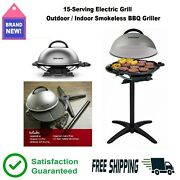 Electric Grill Indoor Outdoor Griddle Barbecue Griller Smokeless Rotisserie 🔥👍