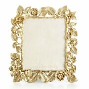 Jay Strongwater Aria 8 X 10 Dutch Floral Frame Composition Gold Spf5881-292 New