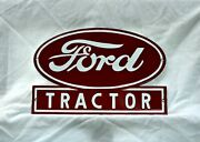 Porcelain Ford Tractor Sign Gas Oil Garage Indoors Or Outside Very Nice 12 X 8