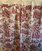 Beautiful Rare Early 19th Century French Senic Toile Conversational Fabric 4014