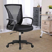 Officlever Mesh Backrest Wheels Ergonomic Lumbar Support And Fully Adjustable