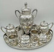 Pairpoint Aesthetic Movement Silver Tea Service