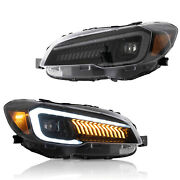 Vland Full Led Headlights With Sequential For 15-21 Subaru Wrx And 15-17 Wrx Sti