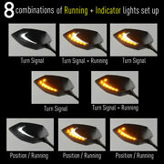 Kiwav Mirrors Lucifer Dual Led + Oi Flasher Rate Control Relay For Ducati Indian
