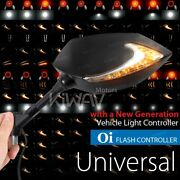 Kiwav Mirrors Lucifer Dual Led + Oi Flasher Rate Control Relay For Yamaha Ducati