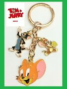 Tom And Jerry Quality Golden Enamelled Metal Key Rings Keychain Tom And Jerry