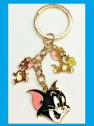 Tom And Jerry Quality Golden Enamelled Metal Key Rings Keychain Tom And Jerry 2