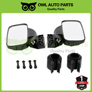 For Rzr 800 S 1000 1.75 2 Roll Cage Utv Rear View Mirror Side View High Impact