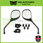 Atv Rear View Mirror With 7/8 Handlebar Mount Fit Motocycle Scooter Pair Of 2