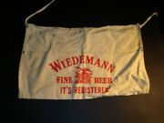 Circa 1940s Wiedemann Beer Cloth Change Apron Newport Kentucky