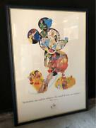 Disney 75th Anniversary Poster Rare Novelty Mickey Mouse Very Good From Japan