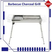 Barbecue Charcoal Grill Portable Stove Outdoor Camping Luxury Stainless Steel
