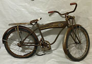 """1940's Monark 24"""" Super Deluxe With Tank - Rare Great Restoration Candidate"""