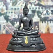 17 King Rama 9 Black Buddha Statue Thailand From Bowonniwet Temple Sign And Mark