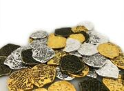 500 Gold And Silver Doubloon Toy Metal Pirate Coins
