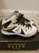 Lebron 10 Elite Black Gold - Sz 9.5, New With Box, +1 Spare Laces Included