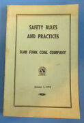 Vintage 1972 Slab Fork Coal Mining Safety Rules And Prctices Paper Book 229 Pages