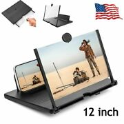 12 Folding Smartphone Screen Magnifier 3d Hd Video Mobile Phone Amplifier Stand