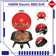 1600w Electric Bbq Grill Stand Stove Party Garden Portable 2 Layers Easy Clean