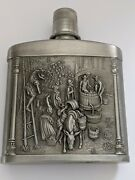 German Vintage Pewter Flask Very Good Condition.