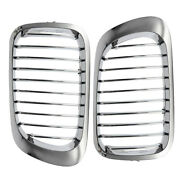 2pcs Abs Front Kidney Grille Mesh Grill Compatible For Bmw E46 M3 325ci 3 Series