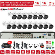 16 Channel Dvr Recorder 16pcs 1080p Hd Home Cctv Security Camera System 1tb Hdd