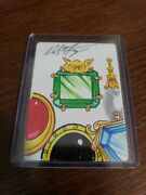 Mtg Mox Emerald Sketch Dan Frazier Altered Autographed Signed Art Magic Collage