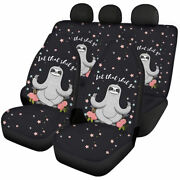 Cute Sloth Gifts Car Seat Covers Full Set Front And Rear Universal Fit For Women