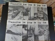 Nmra Bulletin 1975 Complete Year 12 Issues January Thru December Index