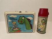 Rare White Vinyl Beany And Cecil Lunchbox With Thermos From 1961 Bob Clampett