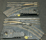 Post-war Lionel No. 1122 Track Switches, Pair. Vintage 027 - U.s. Of America