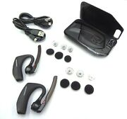 2 Plantronics Voyager 5200 Hd Bluetooth Headsets Bundle With One Charging Case