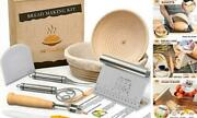 Bread Proofing Basket With Baking Tools - Sourdough Starter Kit With Bread