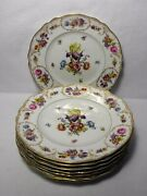 Franconia China Dresden Flowers Pattern Set Of 8 Service Plates - 10-3/4