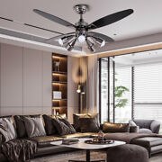 48 Ceiling Fan Lamp Chandelier 5 Rotatable Lights 3 Speeds W/ Remote Control Us