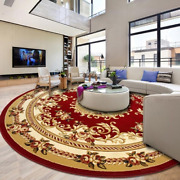 Hand Carved Round Carpet Carpet Rug Sofa Coffee Table Floor Mat Room Woven Rugs