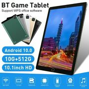 2021 10.1 Wifi Tablet Android 10.0 10g+512g 10 Core Pc Google Gps+ Dual Camera
