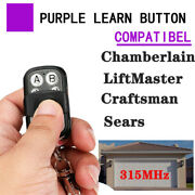 For Chamberlain Liftmaster Door Gate Car Remote Clone 315mhz Key Fob 371lm 372lm