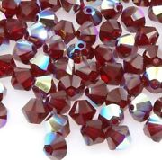 Cone Crystal 4mm Ab Bi-cone Crystal Glass Beads Sold By Strands 144 Beads