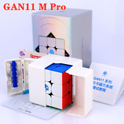 Gan 11 M Pro Frosted 3x3x3 Speed Sticker Less Magnetic Magic Cube Puzzle Toys.